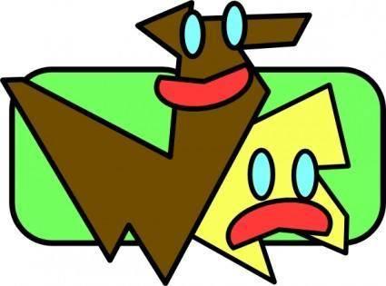 free vector Running Dogs Cartoon clip art