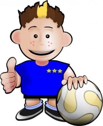 free vector Kobo Soccer Toon clip art