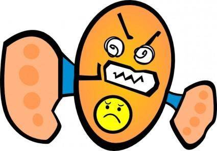 Angry clip art