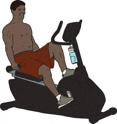 Exercise Bike Man clip art