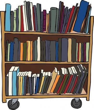 Library Book Cart clip art