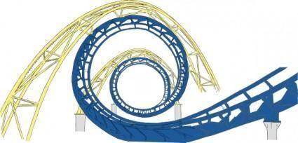 free vector Roller Coaster Tracks clip art
