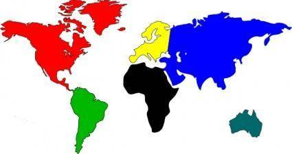 Bessan World Map clip art