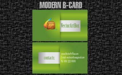 free vector Modern B-card