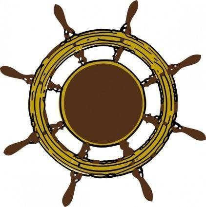 Ship Steering Wheel clip art