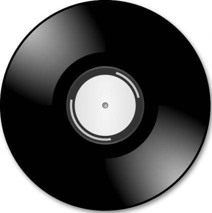 free vector Vinyl Disc Record clip art