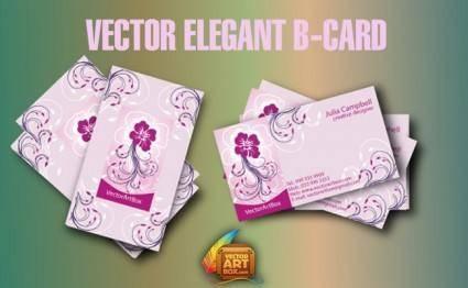 free vector Vector Elegant B-card