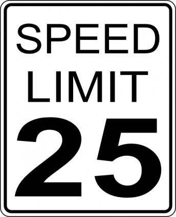 Paulprogrammer Ca Speed Limit Roadsign clip art