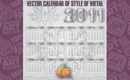 Metal Vector Calendar