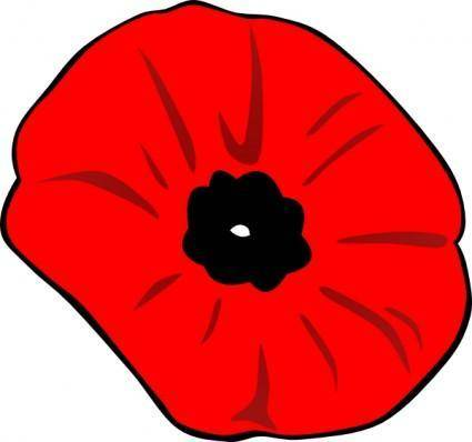 Poppy Remembrance Day clip art