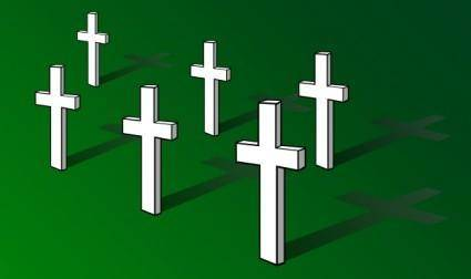 free vector Crosses On Field Remembrance Day clip art