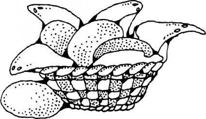 free vector Bread Basket clip art