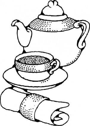 Teapot And Cup clip art