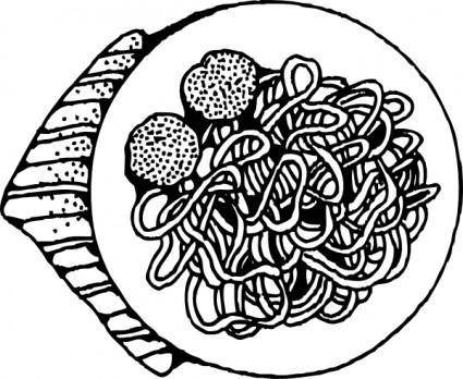 free vector Spaghetti And Meatballs clip art