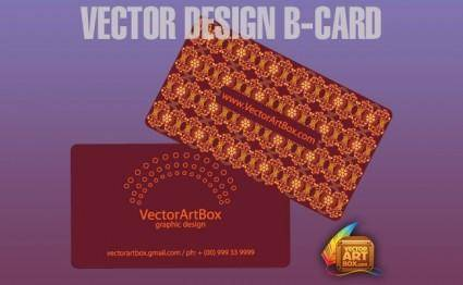 Vector Design B-card