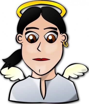 free vector Angel Face Cartoon clip art