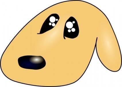 free vector Ericlemerdy Cute Sad Dog clip art