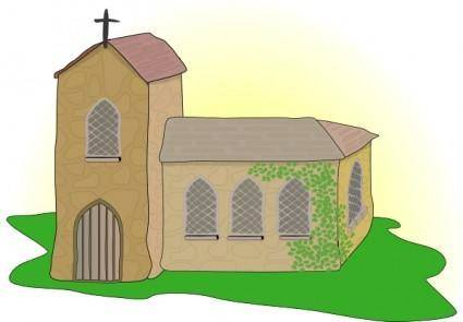 free vector Country Church clip art