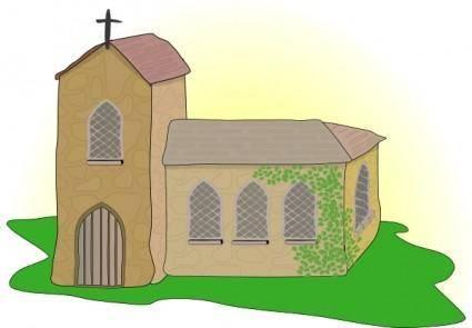 Country Church clip art