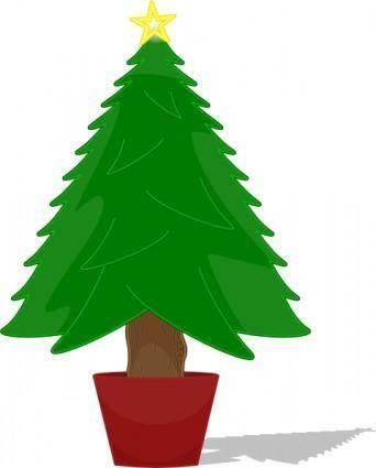 free vector Elkbuntu Glossy Christmas Tree clip art
