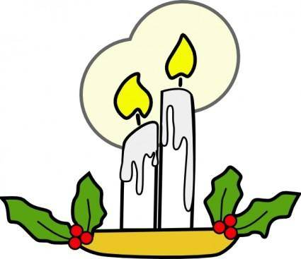 Christmas Candles clip art 106052