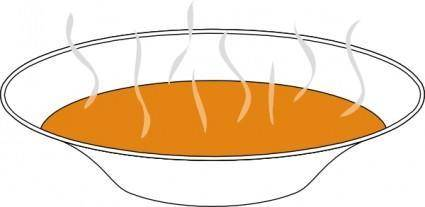Steaming Pumpkin Soup clip art