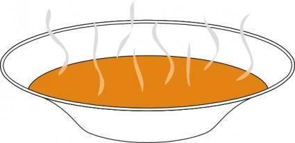 Steaming Pumpkin Soup clip art