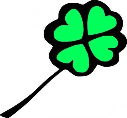free vector Four Leaf Clover clip art