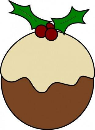 free vector Karderio Christmas Pudding clip art