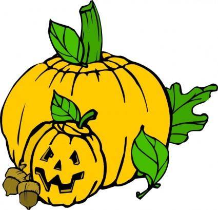 Pumpkins Colour clip art