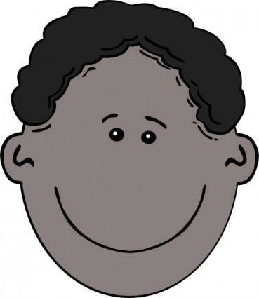 Boy Face Cartoon clip art