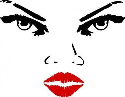 Woman Eyes clip art