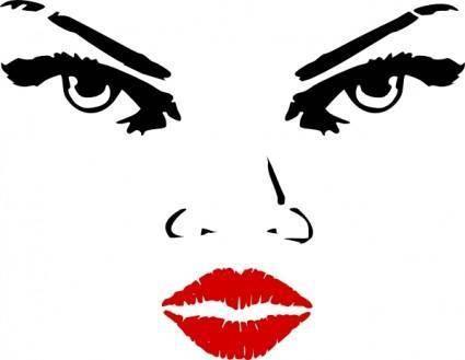 free vector Woman Eyes clip art