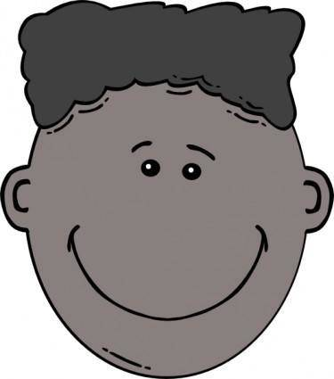 free vector Boy Face Cartoon clip art