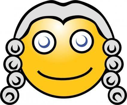 Smiley Magistrate clip art