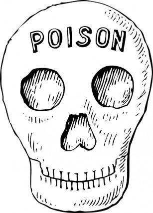 Poison Skull clip art