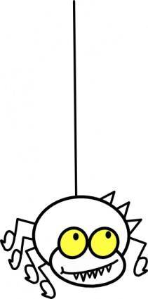 Hanging Spider Cartoon clip art