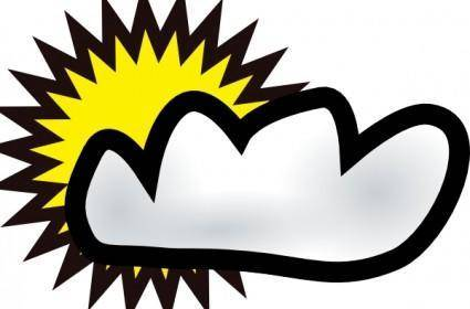 free vector Sunny Partly Cloudy Weather clip art