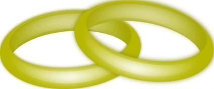free vector Gold Wedding Rings clip art