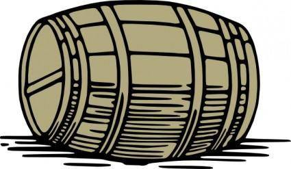 Large Barrel clip art
