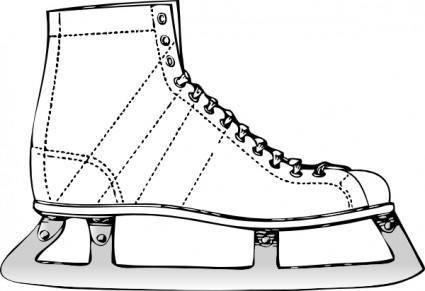 free vector Ice Skate clip art