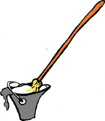 Mop And Bucket clip art