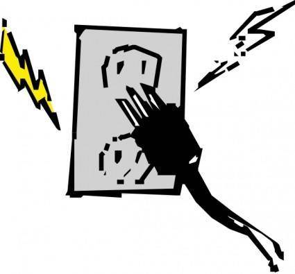 Electrical Outlet And Plug clip art