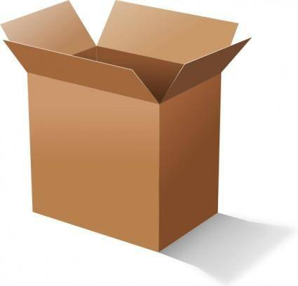Cardboard Box clip art
