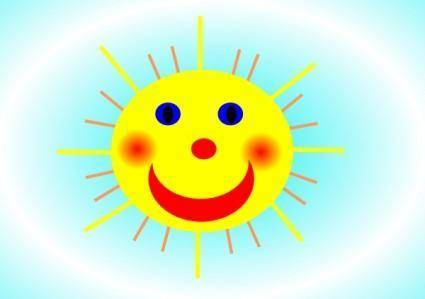 free vector Smiling Sun clip art