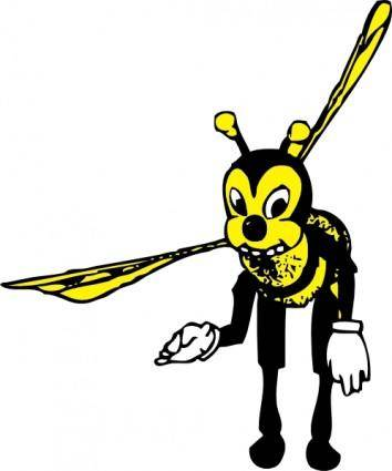 Bowing Bee clip art