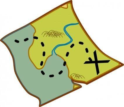 free vector Treasure Map clip art