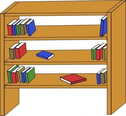 Furniture Library Shelves Books clip art