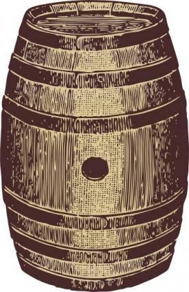 free vector Wooden Barrel clip art