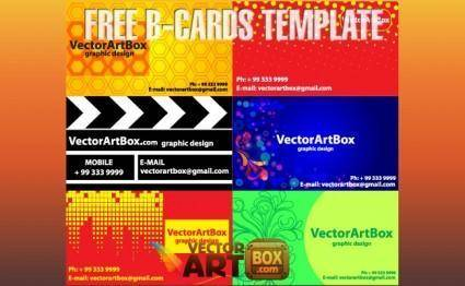 Free B-cards Template